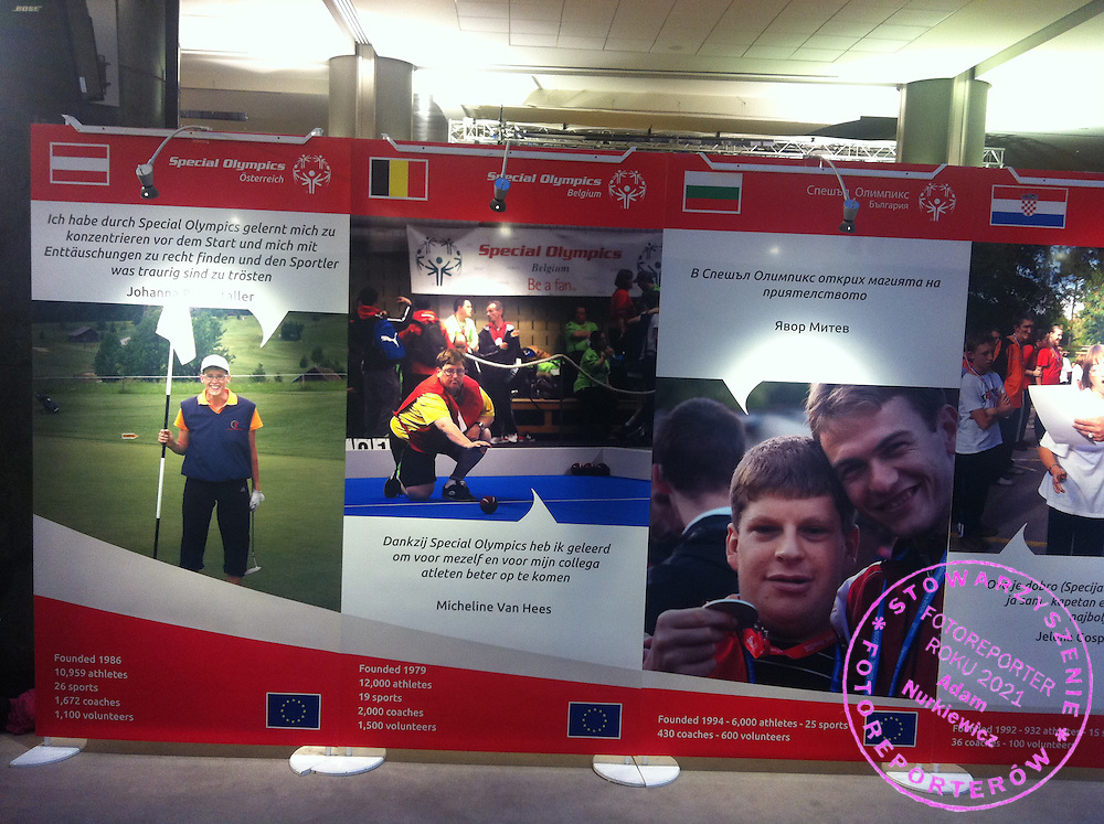 Photo exhibition of Special Olympics Europe Eurasia in Euro Parliament in Brussels, Belgium.<br /> <br /> Belgium, Brussels, December 1, 2013<br /> <br /> Any editorial, commercial or promotional use requires permission.<br /> <br /> Mandatory credit:<br /> Photo by &copy; Suzanne Coogan / SOEE