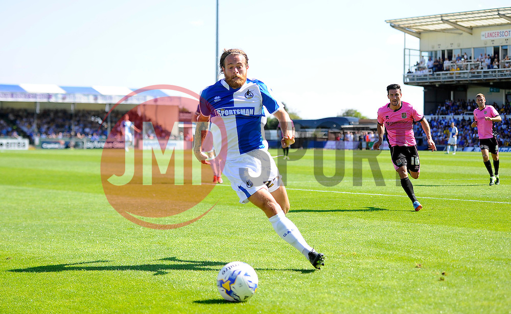 Stuart Sinclair of Bristol Rovers chases the ball  - Mandatory byline: Joe Meredith/JMP - 07966386802 - 08/08/2015 - FOOTBALL - Memorial Stadium -Bristol,England - Bristol Rovers v Northampton Town - Sky Bet League Two