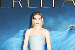© Licensed to London News Pictures. 19/03/2015, UK. Lily James, Cinderella - UK film premiere, Leicester Square, London UK, 19 March 2015. Photo credit : Richard Goldschmidt/Piqtured/LNP