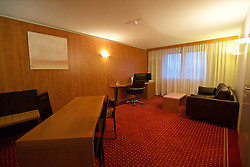 BORDEAUX, FRANCE - Tuesday, January 26, 2016: A suite at the Quality Suites Bordeaux Airport Hotel & Spa on an inspection visit ahead of the UEFA Euro 2016 Tournament. (Pic by David Rawcliffe/Propaganda)