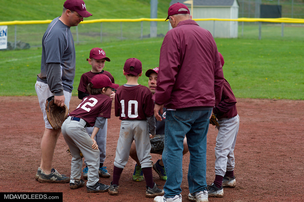 Saturday, April 22, 2017  during the Morris Plains Little League Opening Day A-ball game of Annabella's Team vs  on Community Center Field #2 as seen by photographer M David Leeds.