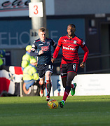 8th May 2018, Global Energy Stadium, Dingwall, Scotland; Scottish Premiership football, Ross County versus Dundee; Glen Kamara of Dundee and Billy McKay of Ross County