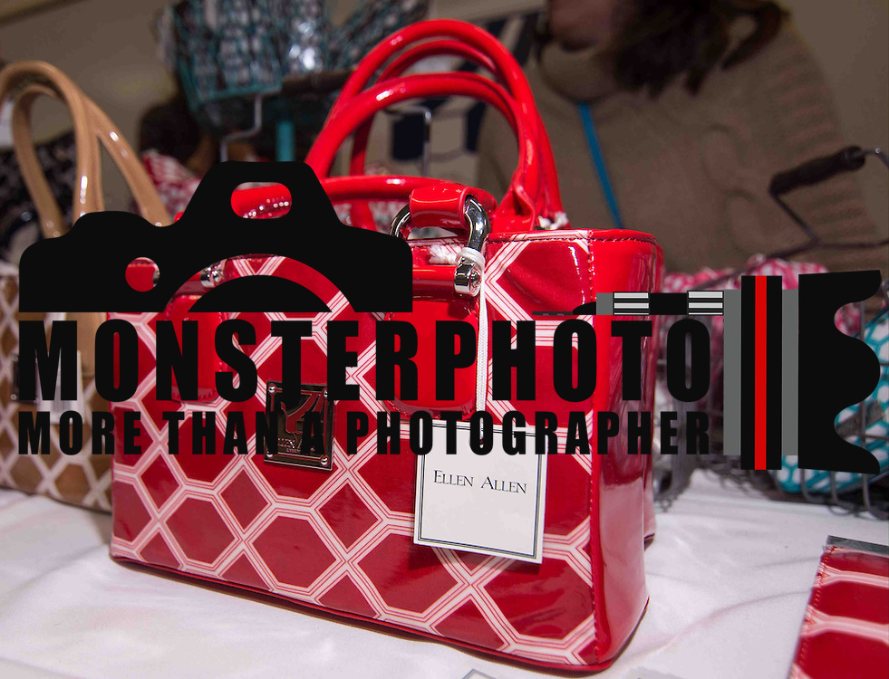 A Red MainStreet Mini DB Hand bag seen on display at the Ellen Allen booth during the 3rd Annual Guilty Girls Warehouse Sale Friday, Feb. 06, 2015 at University of Delaware's Arsht Hall in Wilmington, DE.