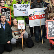 Protest No Fracking Anywhere! outside Parliament, London