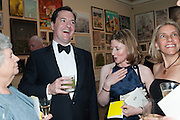 DAME ANTONIA BYATT; GEORGE OSBORNE; FRANCES OSBORNE; FARRON TOZER BROWN;, Royal Academy Annual Dinner 2013. Piccadilly. London. 4 June 2013.