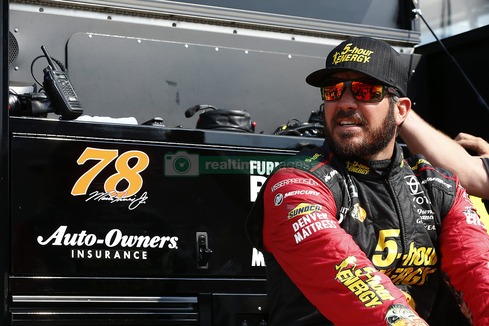 August 10, 2018 - Brooklyn, Michigan, United States of America - Martin Truex, Jr (78) hangs out on pit road prior to qualifying for the Consumers Energy 400 at Michigan International Speedway in Brooklyn, Michigan. (Credit Image: © Justin R. Noe Asp Inc/ASP via ZUMA Wire)