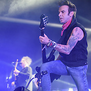 ROBERT SMITH and SIMON GALLUP of The Cure performs at Merriweather Post Pavilion.  The band performed 32 songs in a career-spanning set.