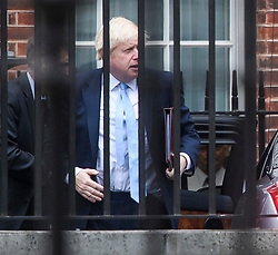 © Licensed to London News Pictures. 09/09/2019. London, UK. BORIS JOHNSON is seen arriving at 10 Downing Street in Westminster, London following a trip to Ireland. British Prime Minister Boris Johnson os expected to prorogue Parliament this evening, in the run up to Britain's planned Brexit deadline of October 31st. Photo credit: Ben Cawthra/LNP