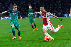 08-05-2019 NED: Semi Final Champions League AFC Ajax - Tottenham Hotspur, Amsterdam<br /> After a dramatic ending, Ajax has not been able to reach the final of the Champions League. In the final second Tottenham Hotspur scored 3-2 / Hakim Ziyech #22 of Ajax, Kieran Trippier #2 of Tottenham Hotspur