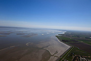 Nederland, Groningen, Gemeente Delfzijl, 01-05-2013; water van de Eems gezien naar de kust ten noorden van Emden (Duitsland). Waddengebied.<br /> View of the Ems to the coast north of Emden (Germany). Wadden Sea.<br /> luchtfoto (toeslag op standard tarieven);<br /> aerial photo (additional fee required);<br /> copyright foto/photo Siebe Swart