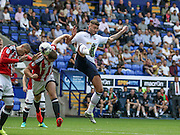 Bolton Striker Gary Madine strikes for goal during the EFL Sky Bet League 1 match between Bolton Wanderers and Sheffield Utd at the Macron Stadium, Bolton, England on 6 August 2016. Photo by Pete Burns.