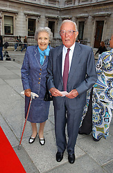 LORD & LADY CARRINGTON at the Royal Academy of Art's SUmmer Party following the official opening of the Summer Exhibition held at the Royal Academy of Art, Burlington House, Piccadilly, London W1 on 7th June 2006.<br />