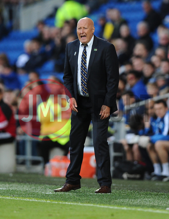 Cardiff City Manager, Russell Slade  - Mandatory by-line: Joe Meredith/JMP - 07966386802 - 28/07/2015 - SPORT - FOOTBALL - Cardiff,Wales - Cardiff City Stadium - Cardiff City v Watford - Pre-Season Friendly