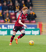 28th April 2018, Fir Park, Motherwell, Scotland; Scottish Premier League football, Motherwell versus Dundee; Simon Murray of Dundee