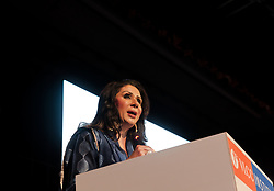 July 7, 2017 - New Delhi, Delhi, India - New Delhi, India, July 08, 2017 - Vandana Luthra, Founder, VLCC addressing to VLCC students in her institute's annual convocation at New Delhi. VLCC Institute of Beauty & Nutrition a leading chain of Beauty and Nutrition Academies currently operating at 330 locations and 150 cities across the globe held it's 16th Annual Convocation at New Delhi today. (Credit Image: © Sauvik Acharyya/Pacific Press via ZUMA Wire)