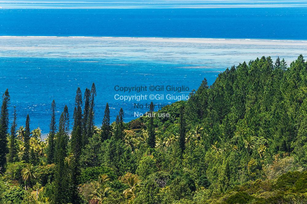 Nouvelle Calédonie, Grande Terre, Province Sud, vue depuis le col de Yaté // New Caledonia, French Pacific territory, Grande Terre, Province Sud, view from Yaté pass