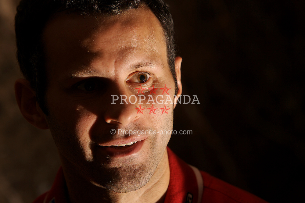 SAN SEBASTIAN, SPAIN - SATURDAY, MAY 20th, 2006: Wales' captain Ryan Giggs at a press conference in San Sebastian. (Pic by David Rawcliffe/Propaganda)