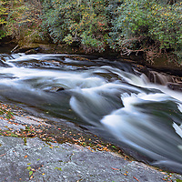 Waterslide on the Chattooga River, in the Nantahala National Forest, Highlands, North Carolina