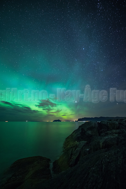 Nightshot with Northern light from vestern part of Norway | Nattfotografering med nordlys fra Herøy på Sunnmøre.