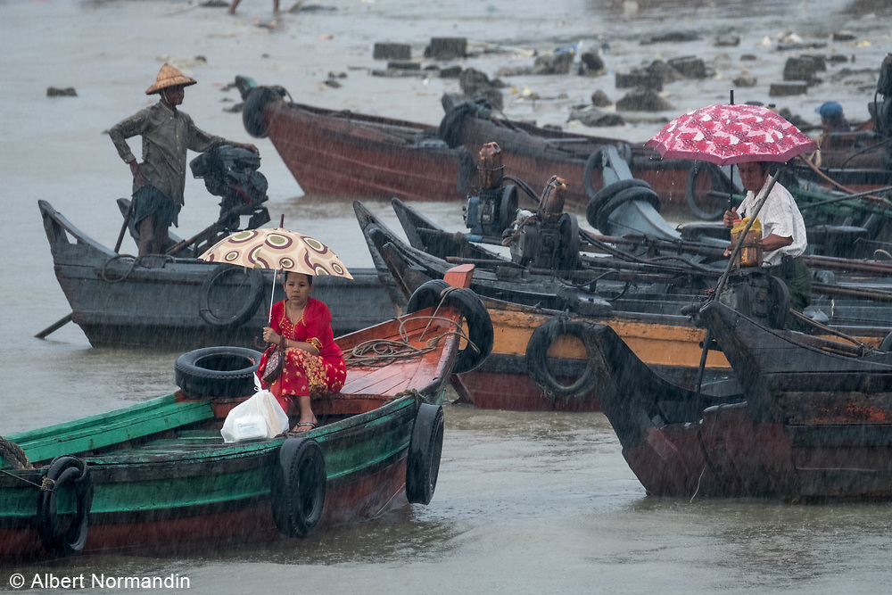 Commuters at Myeik harbour, Myanmar