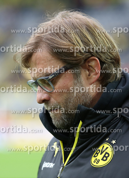 01.03.2014, Signal Iduna Park, Dortmund, GER, 1. FBL, Borussia Dortmund vs 1. FC Nuernberg, 23. Runde, im Bild Trainer Juergen Klopp (Borussia Dortmund) nachdenklich, konzentriert, fokussiert, mit gesenktem Kopf // during the German Bundesliga 23th round match between Borussia Dortmund and 1. FC Nuernberg at the Signal Iduna Park in Dortmund, Germany on 2014/03/01. EXPA Pictures &copy; 2014, PhotoCredit: EXPA/ Eibner-Pressefoto/ Schueler<br /> <br /> *****ATTENTION - OUT of GER*****