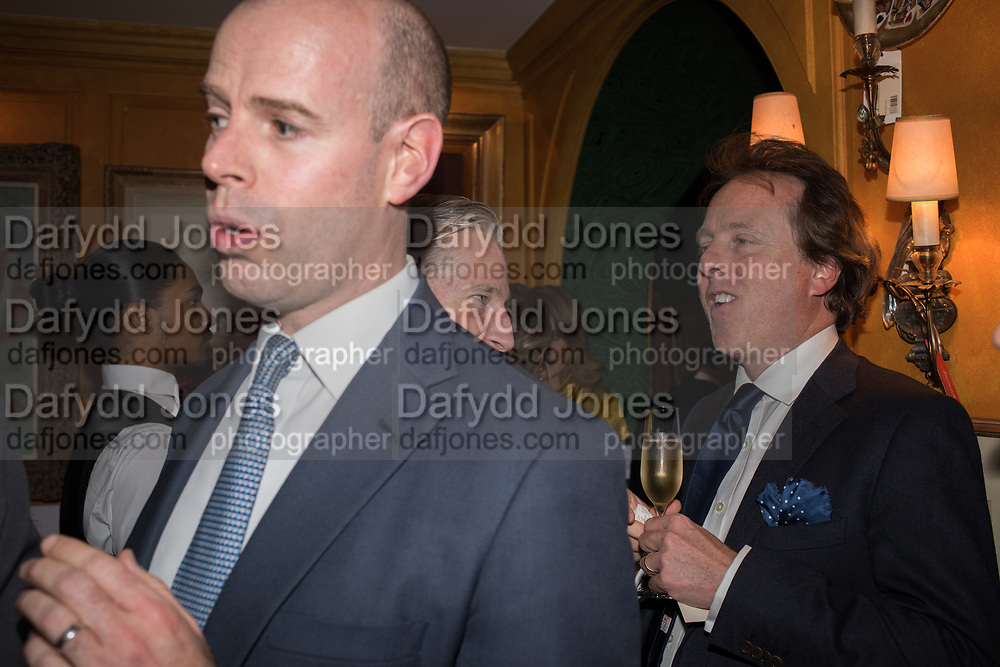 RIGHT: JONATHAN MOFFATT, Pedro Girao of Christies and Duncan Macintyre of Lombard Odier host the last dinner at the Old Annabels. 44 Berkeley Sq. London. 15 November 2018