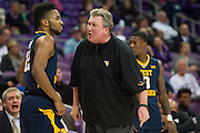 FORT WORTH, TX - JANUARY 4: West Virginia Mountaineers head coach Bob Huggins has words with Tarik Phillip #12 against the TCU Horned Frogs on January 4, 2016 at Ed and Ray Schollmaier Arena in Fort Worth, Texas.  (Photo by Cooper Neill/Getty Images) *** Local Caption *** Tarik Phillip; Bob Huggins