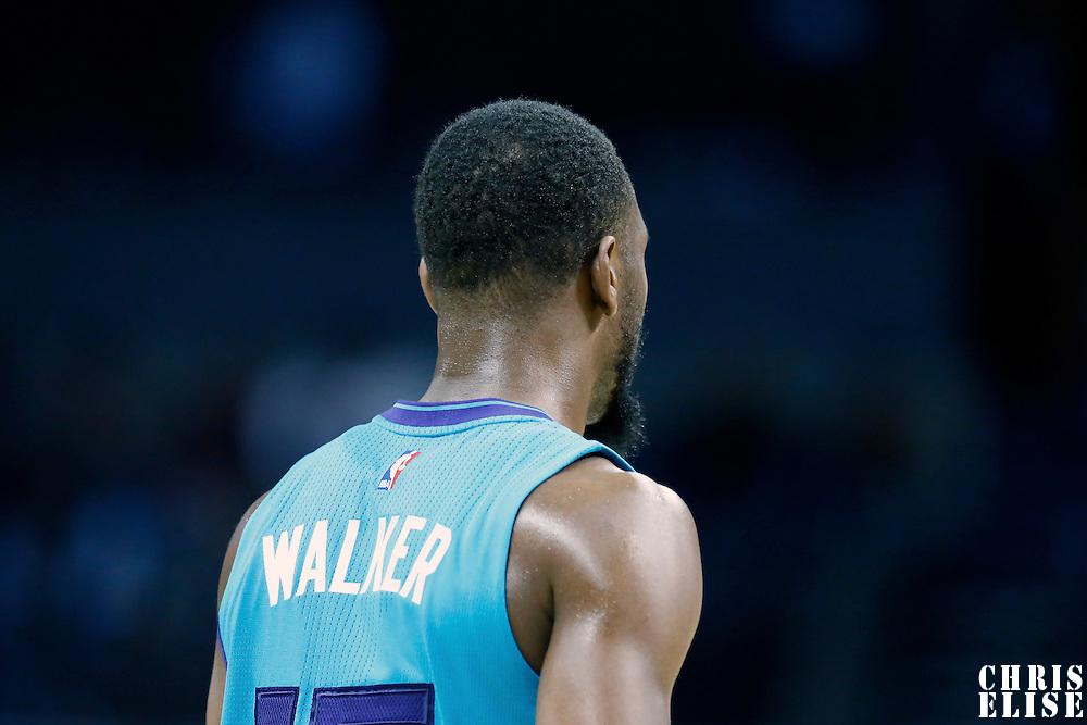 01 November 2015: Charlotte Hornets guard Kemba Walker (15) is seen during the Atlanta Hawks 94-92 victory over the Charlotte Hornets, at the Time Warner Cable Arena, in Charlotte, North Carolina, USA.