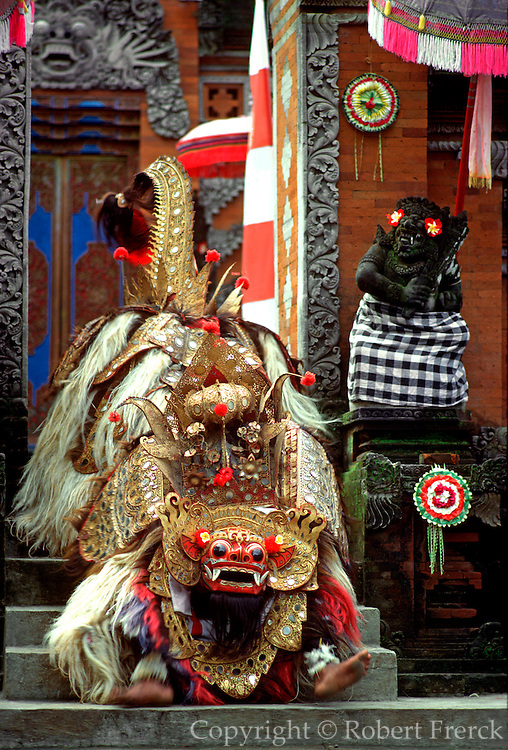 INDONESIA, BALI, CULTURE costumed actors in Barong Dance