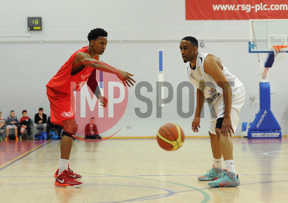 Bristol Flyers' Bree Perine plays a pass - Photo mandatory by-line: Dougie Allward/JMP - Mobile: 07966 386802 - 28/03/2015 - SPORT - Basketball - Bristol - SGS Wise Campus - Bristol Flyers v London Lions - British Basketball League