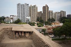 Huaca Huallamarca in the district of San Isidro, in Lima.