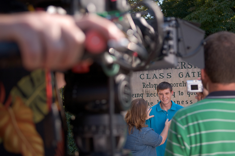 18362Students Campus ...Film crew shoot footage for Advertising Campaign