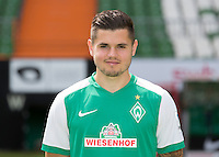 German Soccer Bundesliga 2015/16 - Photocall of Werder Bremen on 10 July 2015 in Bremen, Germany: Marnon Busch