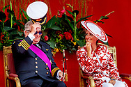 21-7-2018 Prince Laurent nad princess Claire Belgian National Day celebrations, Brussels, Belgium - 21 Jul 2018 COPYRIGHT ROBIN UTRECHT