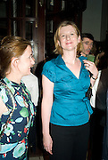 CATHERINE OSTLER; FRANCES OSBORNE, Book launch party for  Sashenka, a romantic novel set in St Petersburg following a society girl who becomes involved with the Communist Party. By Simon Sebag-Montefiore. Asprey. New Bond St. London. 1 July 2008.  *** Local Caption *** -DO NOT ARCHIVE-© Copyright Photograph by Dafydd Jones. 248 Clapham Rd. London SW9 0PZ. Tel 0207 820 0771. www.dafjones.com.