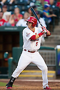 Colin Walsh (5) of the Springfield Cardinals stands at bat during a game against the Northwest Arkansas Naturals at Hammons Field on August 23, 2013 in Springfield, Missouri. (David Welker)