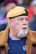 A Scotland rugby fan during the Guinness Six Nations match between Scotland and Wales at BT Murrayfield Stadium, Edinburgh, Scotland on 9 March 2019.