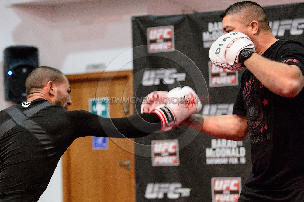 LONDON, ENGLAND, FEBRUARY 13, 2013: Cub Swanson during the open work-out session for UFC on Fuel TV 7 inside London Shootfighters Gym in Park Royal, London, England on Wednesday, February 13, 2013 © Martin McNeil