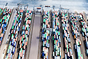 Nederland, Zuid-Holland, Rotterdam, 10-06-2015; Europahaven, containers op de kades van ECT Delta Terminal.<br /> Europe Harbour, containers on the docks of ECT Delta Terminal.<br /> <br /> luchtfoto (toeslag op standard tarieven);<br /> aerial photo (additional fee required);<br /> copyright foto/photo Siebe Swart
