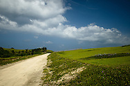 Philippines, Batanes. Main, unpaved road on Sabtang Island.