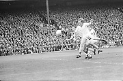 Cork players leap forward after the ball during the All Ireland Senior Gaelic Football Championship Final Cork v Galway in Croke Park on the 23rd September 1973. Cork 3-17 Galway 2-13.