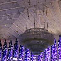 South America, Brazil, Brasilia. Interior of the Dom Bosco Sanctuary in Brasilia.