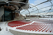 Jay Pritzker Pavilion in Millennium Park, Chicago Illinois, January 11, 2009.  The Jay Pritzker Pavilion is a bandshell designed by world-renowned architect Frank Gehry.
