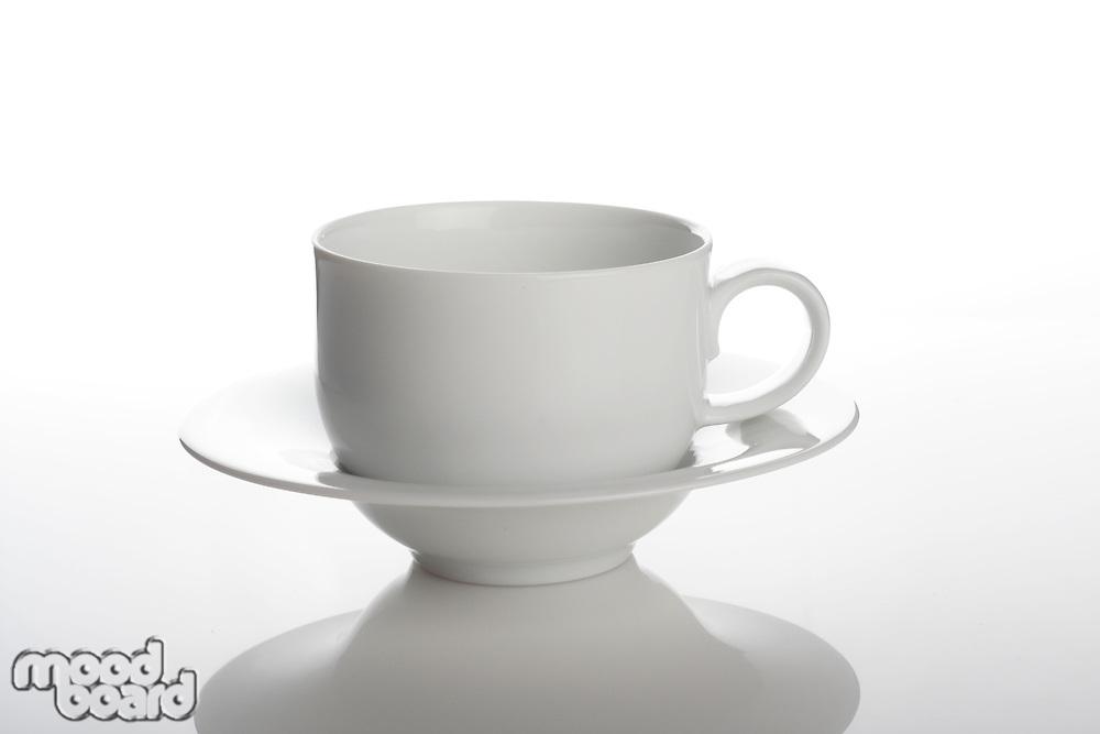 Studio shot of empty cup