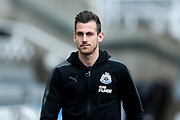 Martin Dubravka (#12) of Newcastle United arrives ahead of the Premier League match between Newcastle United and Huddersfield Town at St. James's Park, Newcastle, England on 31 March 2018. Picture by Craig Doyle.