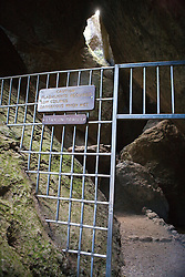 Gated entrance to Balconies Cave, Pinnacles National Monument, California, United States of America