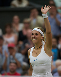 LONDON, ENGLAND - Tuesday, June 28, 2011: Sabine Lisicki (GER) celebrates after winning the Ladies' Singles Quarter-Final match on day eight of the Wimbledon Lawn Tennis Championships at the All England Lawn Tennis and Croquet Club. (Pic by David Rawcliffe/Propaganda)