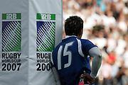 A dejected Loki Crichton of Samoa.  England v Samoa, Nantes, France, Rugby World Cup 2007, 22nd September 2007.