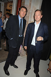 Left to right, BRYAN FERRY and GEORDIE GREIG at the Tanqueray No.TEN cocktail party held at No1 Piazza, Covent Garden, London on 10th June 2008.<br />