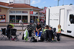 Cylance Pro Cycling relax in the Swedish Summer sun before the 42,5 km team time trial of the UCI Women's World Tour's 2016 Crescent Vårgårda Team Time Trial on August 19, 2016 in Vårgårda, Sweden. (Photo by Sean Robinson/Velofocus)